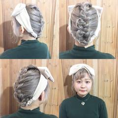 セルフヘアアレンジ ヘアアレンジ 簡単ヘアアレンジ ガーリー ヘアスタイルや髪型の写真・画像