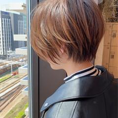 イルミナカラー 大人ショート 小顔ショート ショートヘア ヘアスタイルや髪型の写真・画像