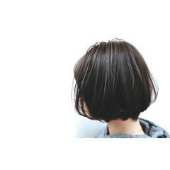 ナチュラル ショートボブ 小顔 大人女子 ヘアスタイルや髪型の写真・画像