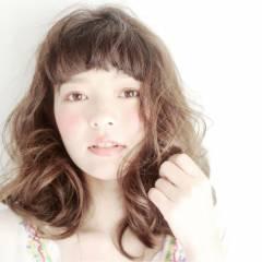 愛され モテ髪 ナチュラル ゆるふわ ヘアスタイルや髪型の写真・画像