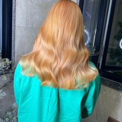 ハイトーンカラー 透明感カラー ラベンダーカラー ロング ヘアスタイルや髪型の写真・画像