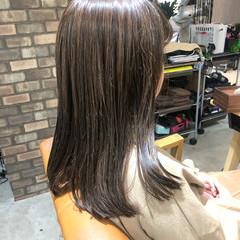 大人ミディアム 透明感カラー ミディアムヘアー ミディアム ヘアスタイルや髪型の写真・画像