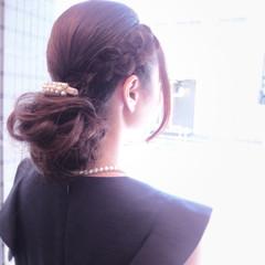 編み込み フェミニン ロング 大人女子 ヘアスタイルや髪型の写真・画像