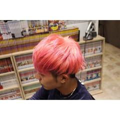 ピンク ショート メンズヘア メンズ ヘアスタイルや髪型の写真・画像