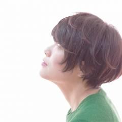 ナチュラル 黒髪 ショート ベース型 ヘアスタイルや髪型の写真・画像