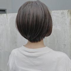 ナチュラル ショート ショートボブ 透明感カラー ヘアスタイルや髪型の写真・画像
