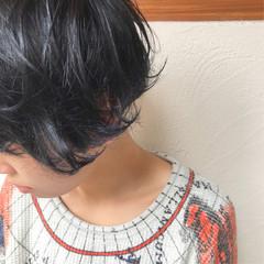 ブルージュ マッシュ ネイビーブルー ストリート ヘアスタイルや髪型の写真・画像