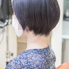 黒髪 ナチュラル ショートヘア 大人かわいい ヘアスタイルや髪型の写真・画像