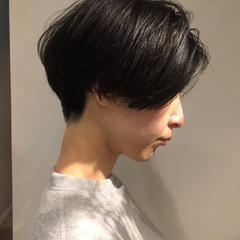 ナチュラル ショート マッシュ かっこいい ヘアスタイルや髪型の写真・画像