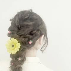 編み込み モテ髪 ヘアアレンジ 愛され ヘアスタイルや髪型の写真・画像