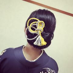 結婚式 セミロング ヘアアレンジ 上品 ヘアスタイルや髪型の写真・画像