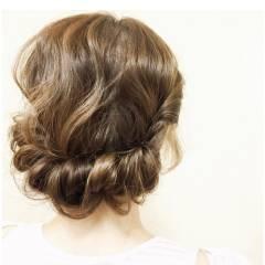 ヘアアレンジ クラシカル ミディアム ギブソンタック ヘアスタイルや髪型の写真・画像
