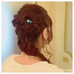 ヘアアレンジ 結婚式 編み込み ディズニー ヘアスタイルや髪型の写真・画像