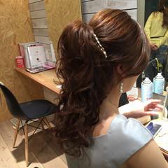 エレガント ニュアンス セミロング ヘアアレンジ ヘアスタイルや髪型の写真・画像