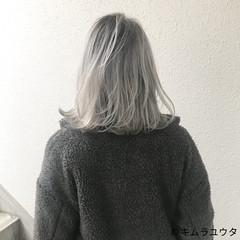 ハイトーン ブリーチ ホワイト モード ヘアスタイルや髪型の写真・画像