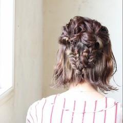 ガーリー ショコラブラウン 外ハネボブ ヘアアレンジ ヘアスタイルや髪型の写真・画像