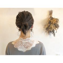 ヘアアレンジ 結婚式 ナチュラル ボブ ヘアスタイルや髪型の写真・画像
