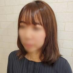 デジタルパーマ 縮毛矯正名古屋市 セミロング 縮毛矯正ストカール ヘアスタイルや髪型の写真・画像