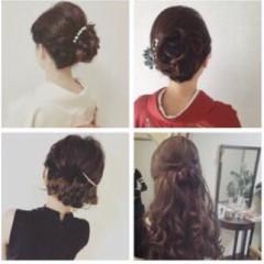 結婚式 女子会 大人かわいい 上品 ヘアスタイルや髪型の写真・画像