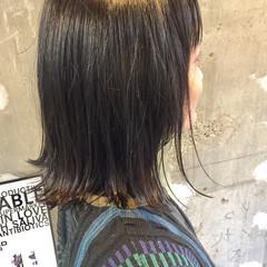 ニュアンス 黒髪 切りっぱなし ストリート ヘアスタイルや髪型の写真・画像