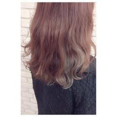インナーカラー ガーリー ピンク ボブ ヘアスタイルや髪型の写真・画像