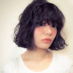 ベース型 外国人風 ボブ 黒髪 ヘアスタイルや髪型の写真・画像