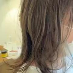 愛され セミロング デートヘア インナーカラー ヘアスタイルや髪型の写真・画像