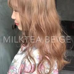 韓国ヘア ストリート カジュアル ロング ヘアスタイルや髪型の写真・画像