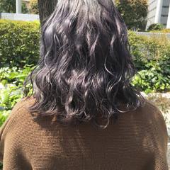 ヘアアレンジ ミディアム 透明感カラー ハイトーンカラー ヘアスタイルや髪型の写真・画像
