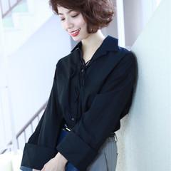 ボブ コンサバ ショート 大人女子 ヘアスタイルや髪型の写真・画像