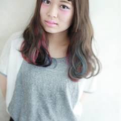ハイトーン グラデーションカラー ガーリー ブリーチ ヘアスタイルや髪型の写真・画像