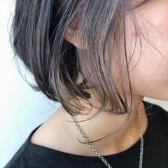パーマ インナーカラー ボブ ボブ ヘアスタイルや髪型の写真・画像