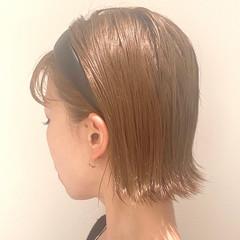 切りっぱなしボブ ミニボブ ボブ 外ハネ ヘアスタイルや髪型の写真・画像