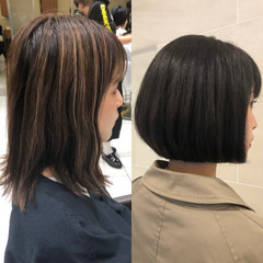 ミニボブ 簡単スタイリング ボブ ショートヘア ヘアスタイルや髪型の写真・画像