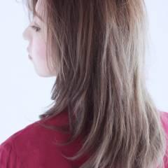 外国人風 グラデーションカラー フェミニン ナチュラル ヘアスタイルや髪型の写真・画像