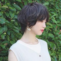 ハンサムショート 小顔ショート マッシュショート ショートヘア ヘアスタイルや髪型の写真・画像