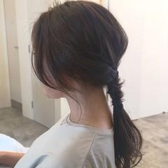 ヘアアレンジ 簡単ヘアアレンジ デート セミロング ヘアスタイルや髪型の写真・画像