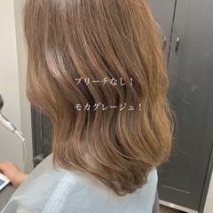 ヘアカラー ボブ フェミニン ブリーチなし ヘアスタイルや髪型の写真・画像