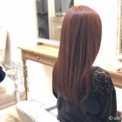 サラサラ ピンク ロング 大人女子 ヘアスタイルや髪型の写真・画像