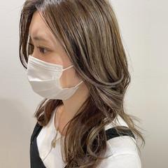 大人かわいい 韓国ヘア ミディアム 大人ハイライト ヘアスタイルや髪型の写真・画像