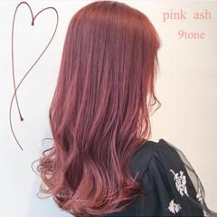 ブリーチなし ピンクラベンダー ピンクアッシュ 透明感カラー ヘアスタイルや髪型の写真・画像