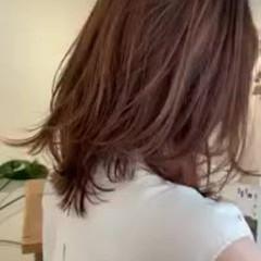 外国人風カラー ウルフレイヤー 大人かわいい エレガント ヘアスタイルや髪型の写真・画像