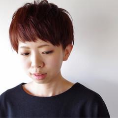 ショート ピンク 春 前髪あり ヘアスタイルや髪型の写真・画像