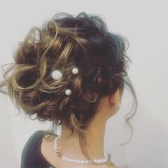 成人式 結婚式 謝恩会 フェミニン ヘアスタイルや髪型の写真・画像