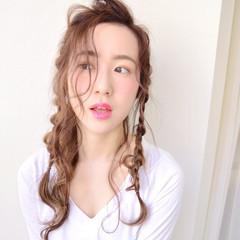 ショート フェミニン 外国人風 ヘアアレンジ ヘアスタイルや髪型の写真・画像