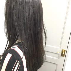 暗髪 黒髪 透明感 ロング ヘアスタイルや髪型の写真・画像