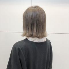 ナチュラル アッシュベージュ ボブ ヘアスタイルや髪型の写真・画像