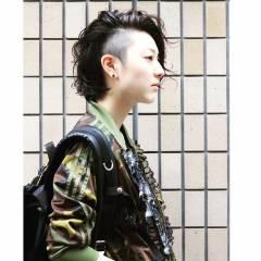 パンク ウェットヘア 春 ロング ヘアスタイルや髪型の写真・画像
