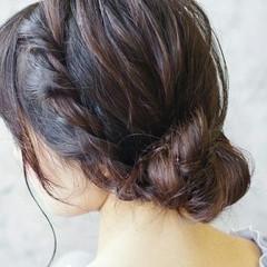 ミディアム シースルーバング ナチュラル ヘアアレンジ ヘアスタイルや髪型の写真・画像