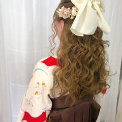 ハーフアップ 卒業式 袴 ヘアアレンジ ヘアスタイルや髪型の写真・画像